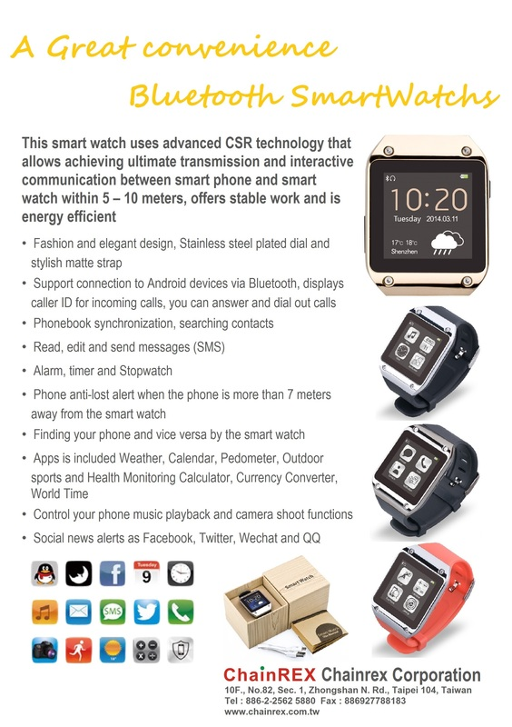 BT Smart Watch Brochure - BT4.0 Application Design